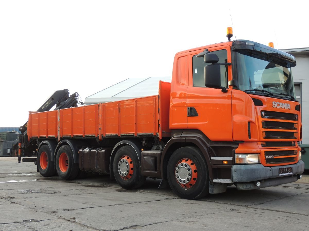 Scania R420 Tipper / Crane PALFINGER PK12502, 2006year, 420HP