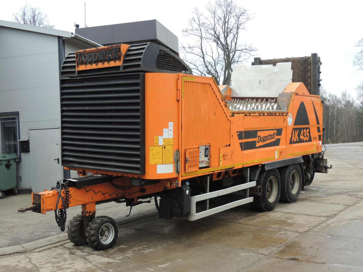 Doppstadt AK 435 Profi, High-speed rotary hammer shredder, 2014