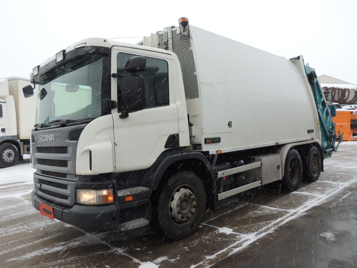 Scania P360 Garbage truck, 2011, 6×2, 360KM, EURO 5