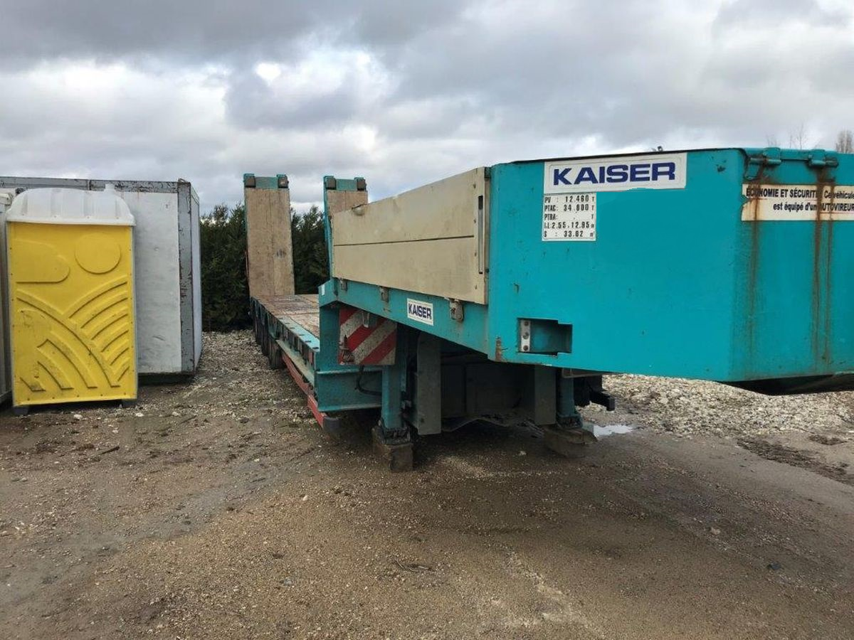 KAISER S570 Low Chassis, 2011, Hydraulikrampen, Winde