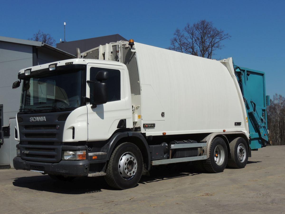 Scania P360 Müllwagen, 2010 Jahre, 6×2, 360 km, EURO 5